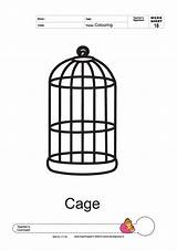 Cage Coloring Pages Colouring Template Birds Thick Line Designlooter Parakeet 2000px 24kb 1414 Templates Larger sketch template