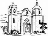 Coloring Church Pages Buildings Iglesias Drawing Printable Building Enrique Architecture Template sketch template