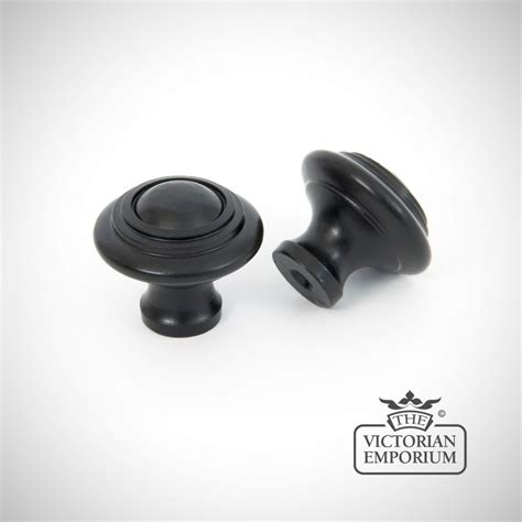 Black Dresser Drawer Knobs by Black Cabinet Knob With Circular Pattern Knobs