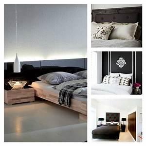 Idee Deco Tete De Lit : t te de lit originale en noir pour une chambre l gante ~ Melissatoandfro.com Idées de Décoration