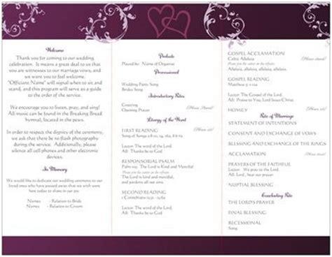 wedding programs vistaprint does anyone diy wedding programs templates