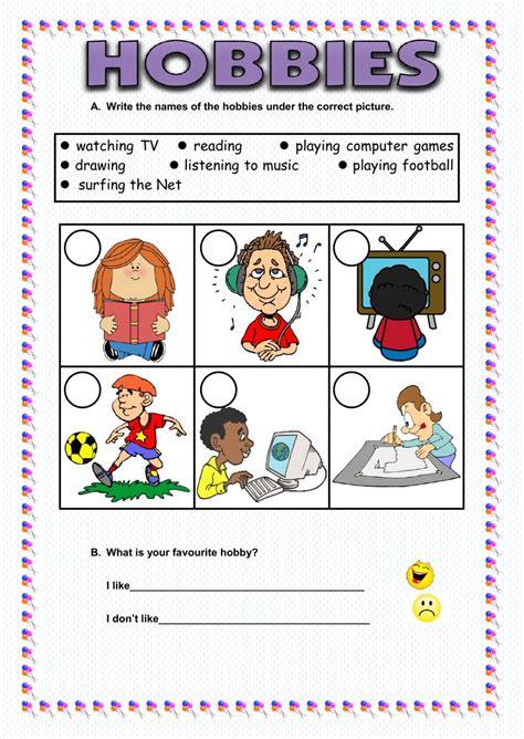 hobbies interactive worksheet