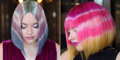 Hairstylist Creates Viral Tie Dye Hair Color By Accident