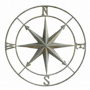 Compass Wall Plaque - Aqua / 28-DA6886