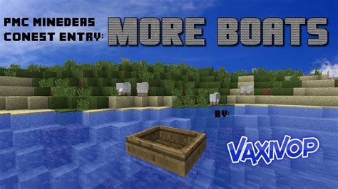 Minecraft Boat Banner by More Boats Minedeas Contest Entry Minecraft