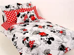 mickey minnie mouse barbie doll bedding set by