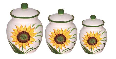 sunflower canister sets kitchen sunflower design 3 deluxe canister set