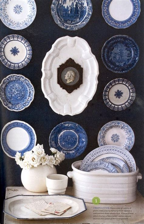 Blue and White Wall Plate
