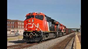 Hd  October 2015 Trains W   Cn Tier 4 U0026 39 S  Bnsf  Crex  Kcs