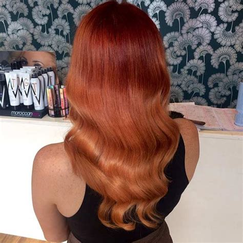 copper balayage hair ideas  fall stayglam