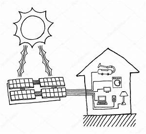 solar energy drawing at getdrawingscom free for With how to a solar cell