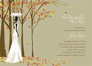 fall themed bridal shower invitations fall in love modern With fall themed wedding shower invitations