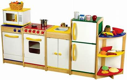 Kitchen Play Wooden Sets Kitchens Toy Clipart