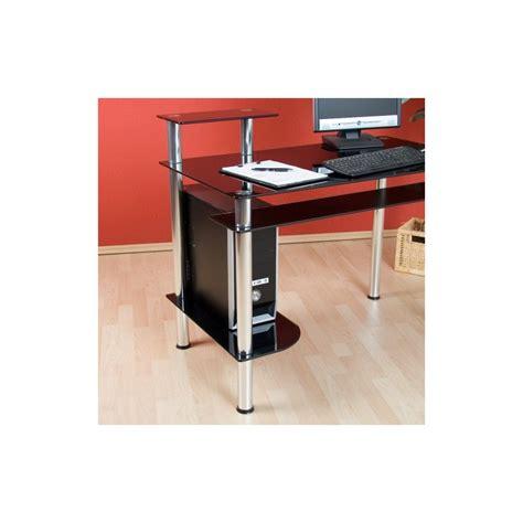 bureau design noir bureau informatique design en verre noir bureau