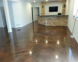 brown epoxy basement floor paint ideas basements With 3 basement flooring options best ideas basement