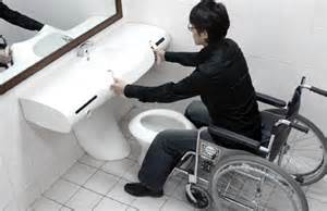 handicapped accessible bathroom designs prototype of universal toilet made yanko design