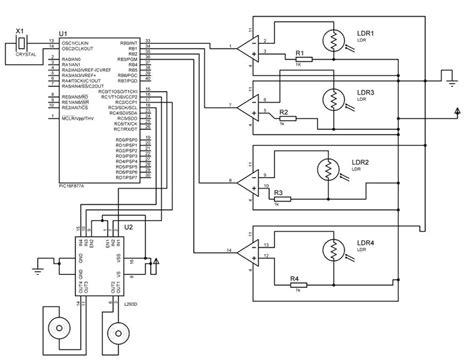 Circuit Diagram The Circuit Diagram Of The Solar Tracker