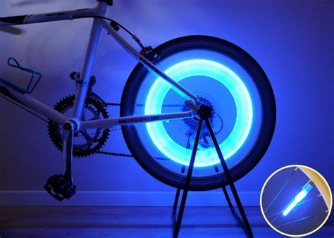lights for bike tires bike bicycle wheel tire spoke led safety light blue ebay
