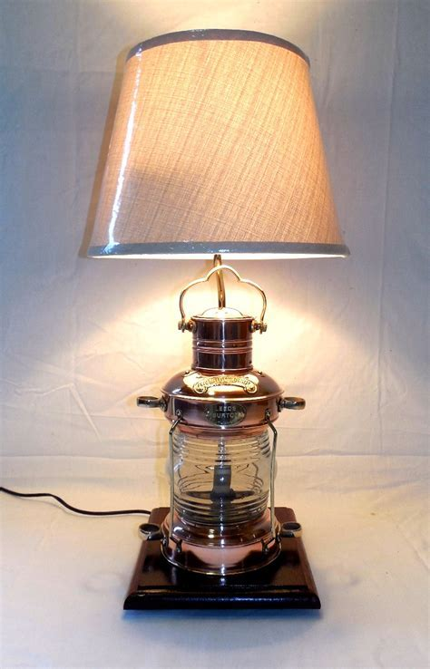 Robin's Dockside Shop   Copper Anchor Lamp Table Lamp