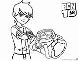 Ben Coloring Pages Bracelet Printable Adults Getcolorings Bettercoloring sketch template