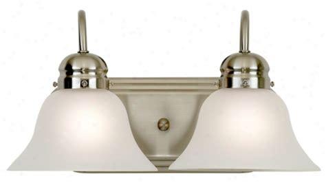 Two Light Bathroom Fixture by Bronze Clover Metal Wall Decor R3273 Lighting