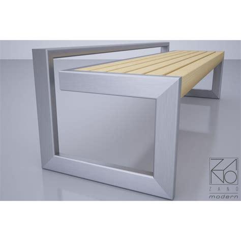 Küchenwagen Edelstahl Holz by Sitzbank Aus Stahl Edelstahl Und Holz