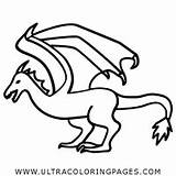 Coloring Wyvern Pages Dragon sketch template