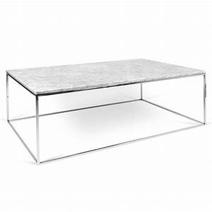 temahome gleam white marble chrome rect coffee table With rectangle white marble coffee table