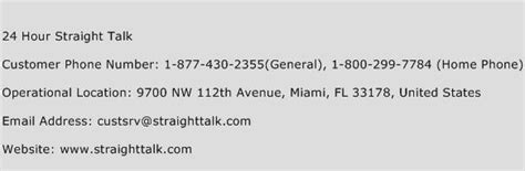 straighttalk phone number 24 hour talk customer service phone number