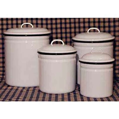 decorative kitchen canisters sets decorative kitchen canisters on set 4 white enamelware