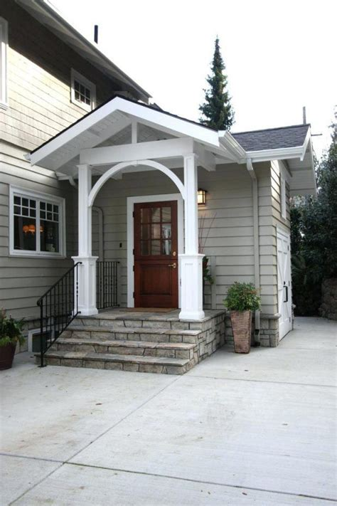 glass front door portico   bungalow exterior ideas