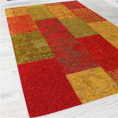 vintage teppich grün vintage teppich antik multicolor trendiger patchwork stil kariert mehrfarbig ebay