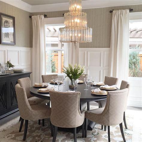 elegant dining room   table   upholstered