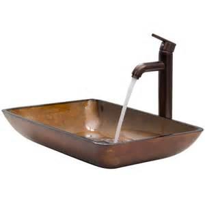Wayfair Bathroom Vessel Sinks by Vigo Glass Vessel Sink With Faucet Reviews Wayfair