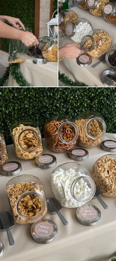 you have to see this diy wedding trail mix bar eagle