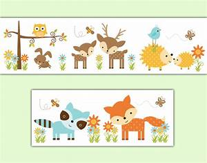 Woodland Nursery Forest Animals Wallpaper Border Wall Art
