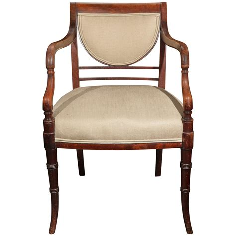 19th century regency chair in mahogany for sale at 1stdibs