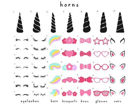 Free unicorn head icons in wide variety of styles like line, solid, flat, colored outline, hand drawn and many more such styles. Unicorn SVG, PNG, EPS, DXF, AI | CUTE Design Your Own Bundle