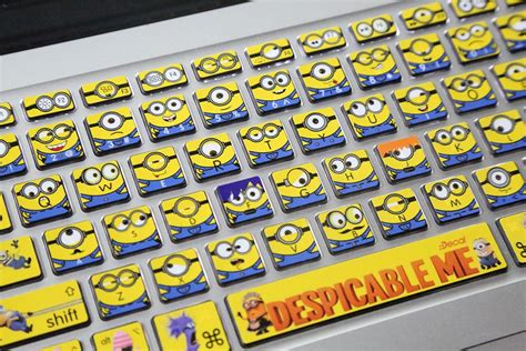 minions laptop skin decals  macbook pro keyboard