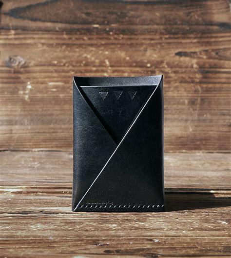Leather Card Holder Handmade leather card wallet handmade card holder folded card