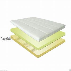4quot pressure relief memory foam mattress topper bed pad for Best full size mattress topper