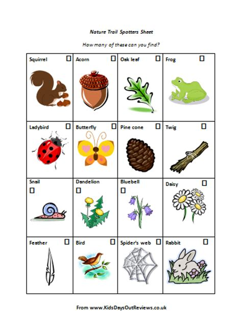 blog nature trail templates free resources kids days out reviews