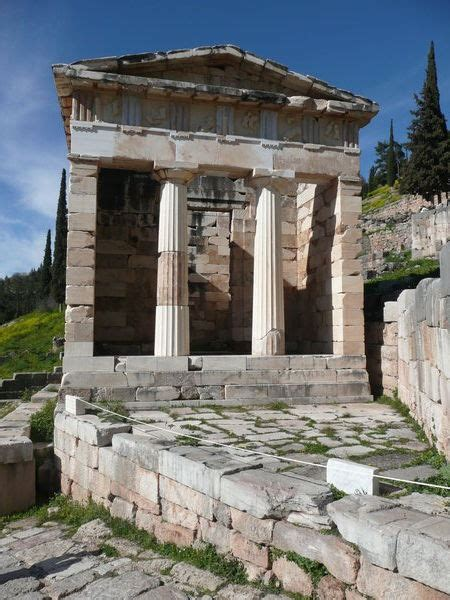 treasury   athenians delphi photo