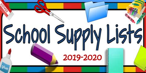 school supplies list eagle county schools