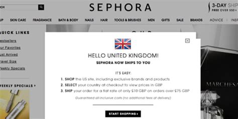 sephora si鑒e sephora website ships to the uk sephora