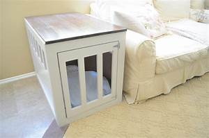 Ana white dog crate end table diy projects for White dog crate furniture