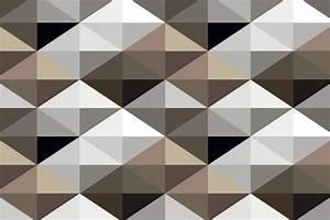 Aliexpress.com : Buy Mural Cool Brown Geometric Pattern ...