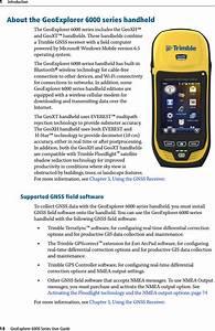 Trimble 615 Geoexplorer 6000 Series User Manual