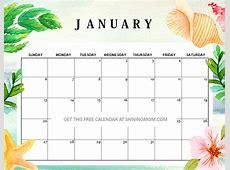 Free Printable January 2019 Calendar 12 Awesome Designs!