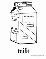 Coloring Pages Drink Drinks Milk Nature Carton Printable Sheets Sheet Found Plate sketch template